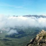 Vue depuis le sommet sur la vallée du Prunelli