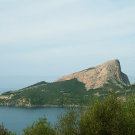 Capu Rossu au retour de la plage d'Arone