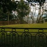 Le jardin face au château