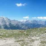 Retour, vue sur le Monte d'Oro