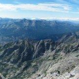 Panorama en direction de Calacuccia. On aperçoit le Rotondu en face