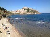 Castelsardo depuis la plage de l'hôtel!