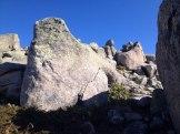 Les rochers sur l'Alcudina
