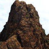 Des rochers en forme d'escalier à Scandola