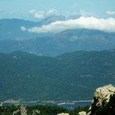 Vue sur le barrage du Rizzanese