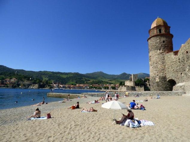 La plage de Collioure