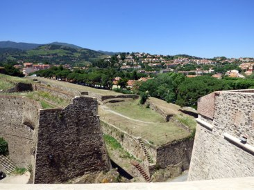 Panorama sur la ville depuis les remparts du château