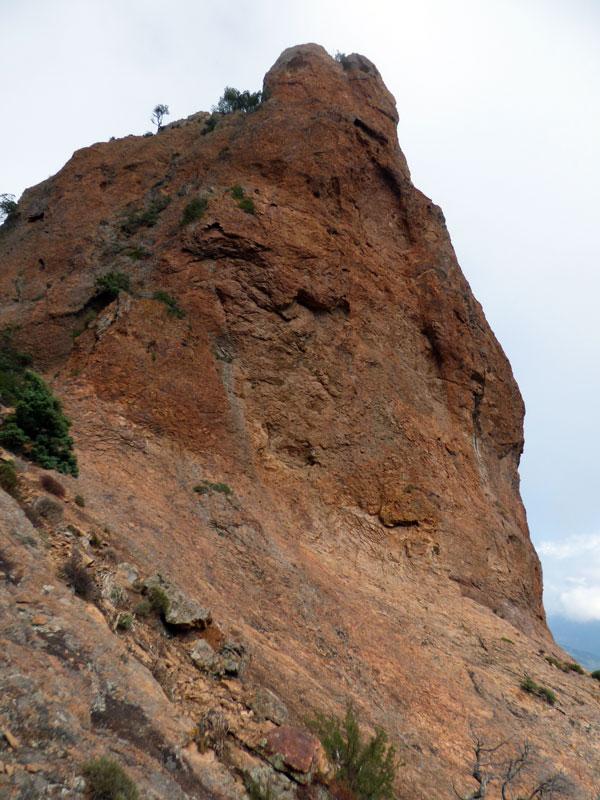 La couleur de la roche est sublime