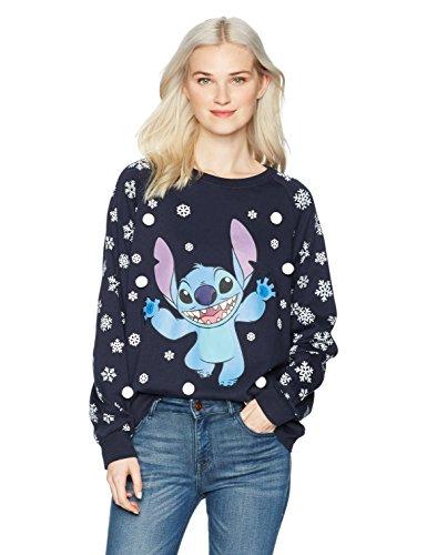 Disney Women's Stitch Christmas Sweater with Embellishments