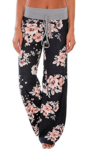 AMiERY Women's Casual Pajama Pants Floral