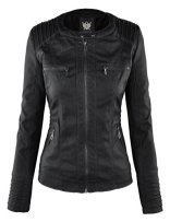LL Womens Hooded Faux leather Jacket 4