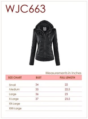 LL Womens Hooded Faux leather Jacket 7