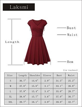 Laksmi Elegant Dresses Womens Casual Dress A Line Cap Sleeve 6