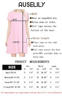 AUSELILY Women's Long Sleeve Pleated Loose Swing 4