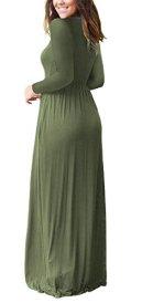 AUSELILY Women Long Sleeve Loose Plain Maxi Dresses 3