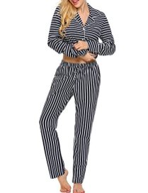 Ekouaer Pajamas Women's Long Sleeve Sleepwear Soft Pj 7
