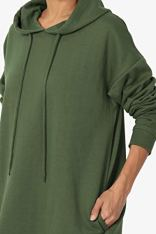 TheMogan Pullover Hoodie Long Tunic Sweatshirts 5