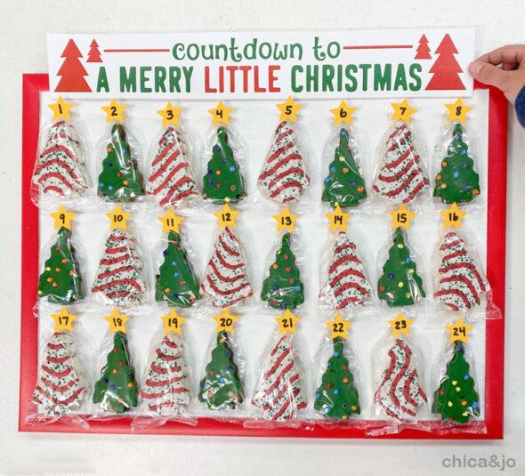 little debbie christmas tree cake advent calendar 15