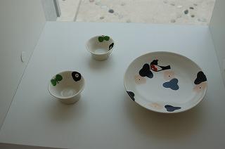 鳥のお皿とおちょこ♪
