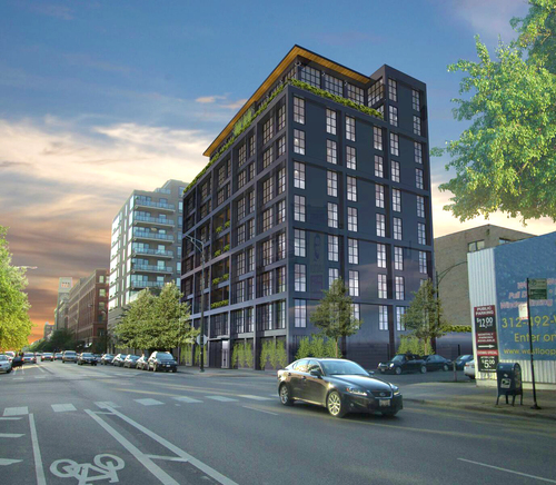 Rendering of 900 West Washington (Courtesy of TARDIS Development)