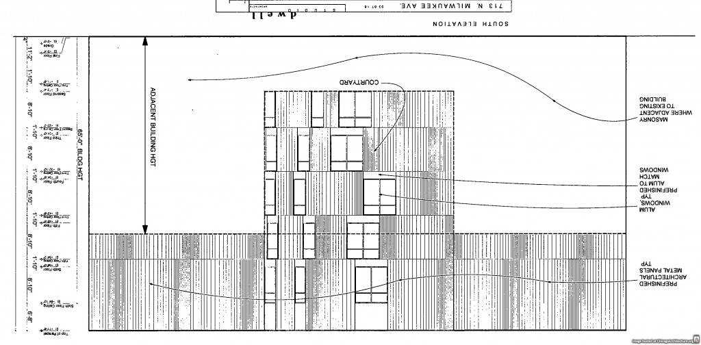 Diagram of 715 North Milwaukee