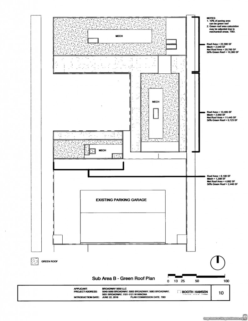Diagram of the 5050 Broadway development