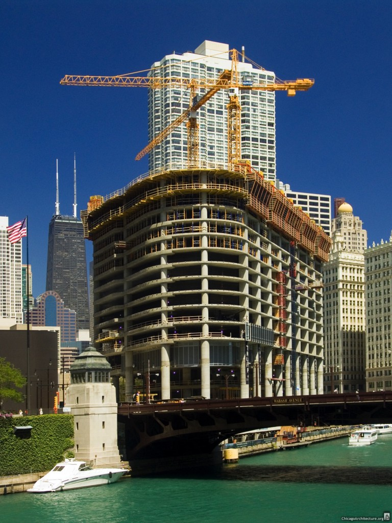 Trump International Hotel and Tower under construction in 2006