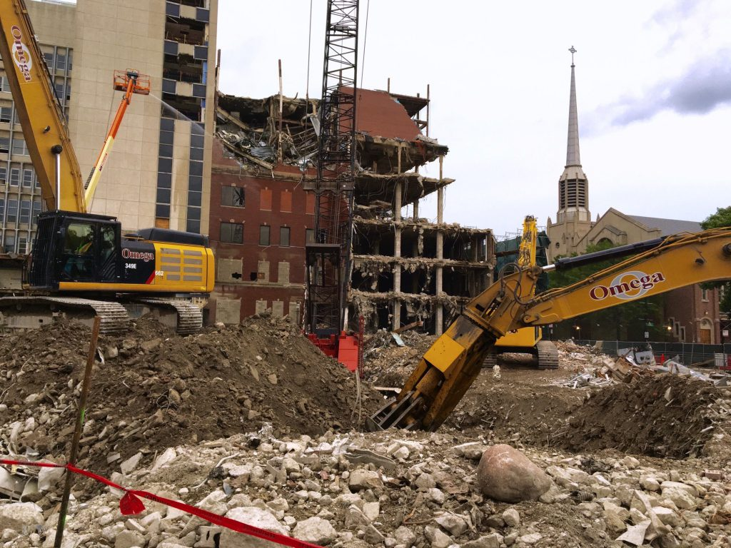 Children's Memorial Hospital demolition (Courtesy of Doctor Robert Vogelzang)