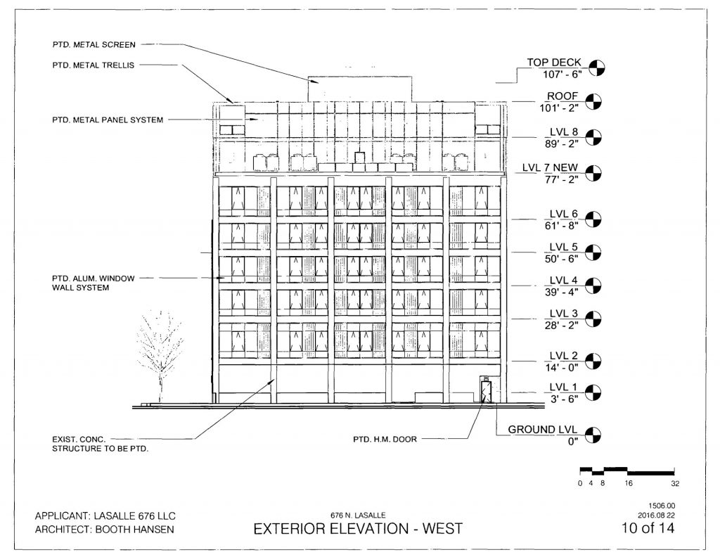 Diagram of 676 North LaSalle