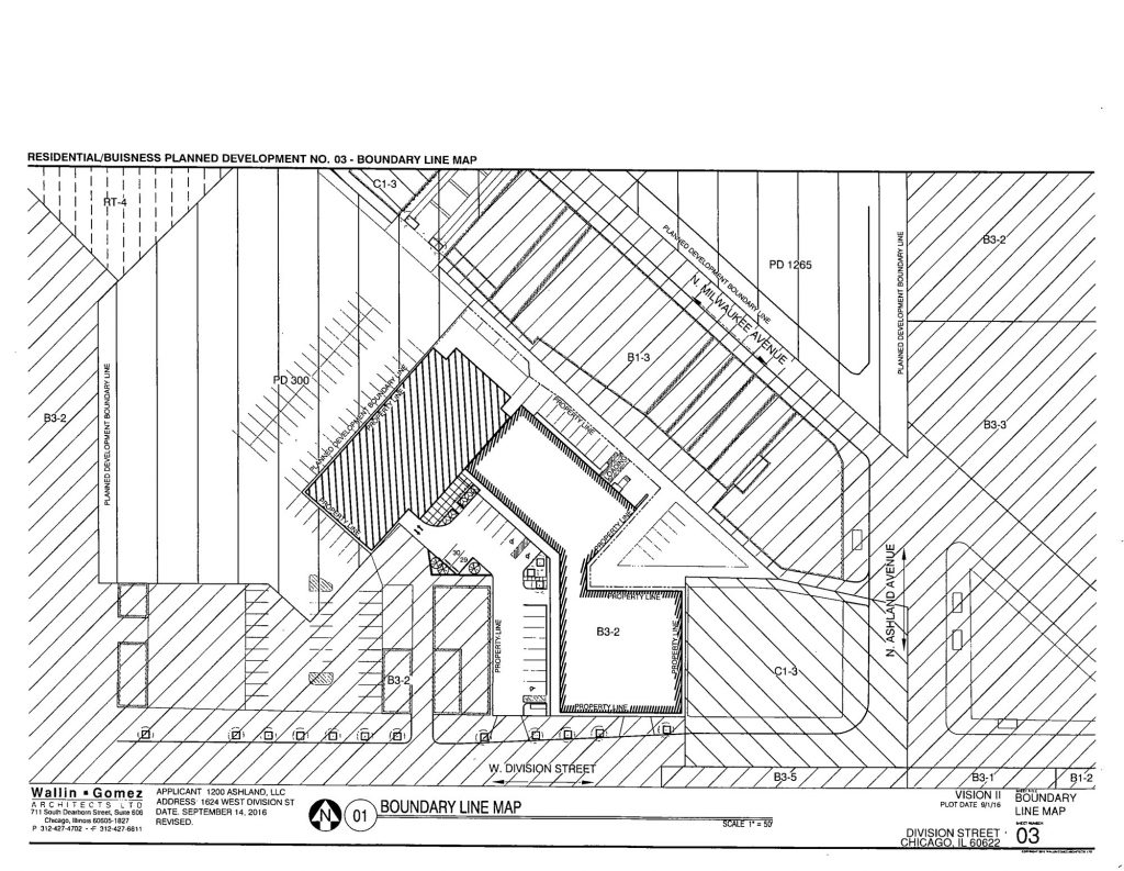 Drawing of 1624 West Division
