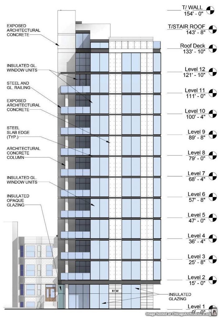 Diagram of 61 West Erie