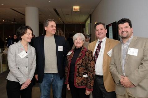 Susan Poser, UIC Provost (left) and CBC affiliates: Brad Merrill, Brenda Russell, Richard Minshall and John O'Bryan (UIC)
