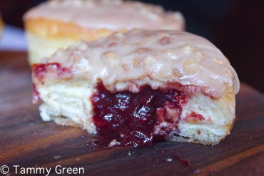 Glazed & Infused Jelly Filled Doughnut