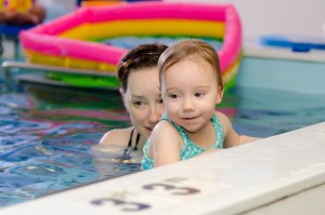 A child-centered swim class at Chicago Blue Dolphins
