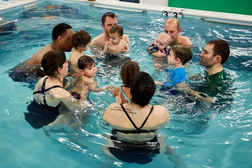 Baby toddler swim lessons | Chicago Blue Dolphins