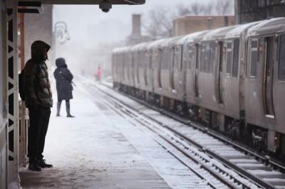 Chicago L snow