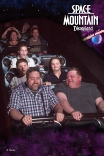 Ryan first time on Space Mountain