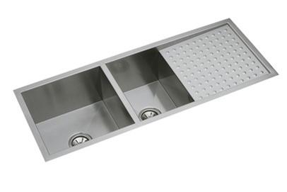 elkay efu471810db 16 gauge stainless steel 47 25 x 18 5 x 10 double bowl undermount kitchen sink kit