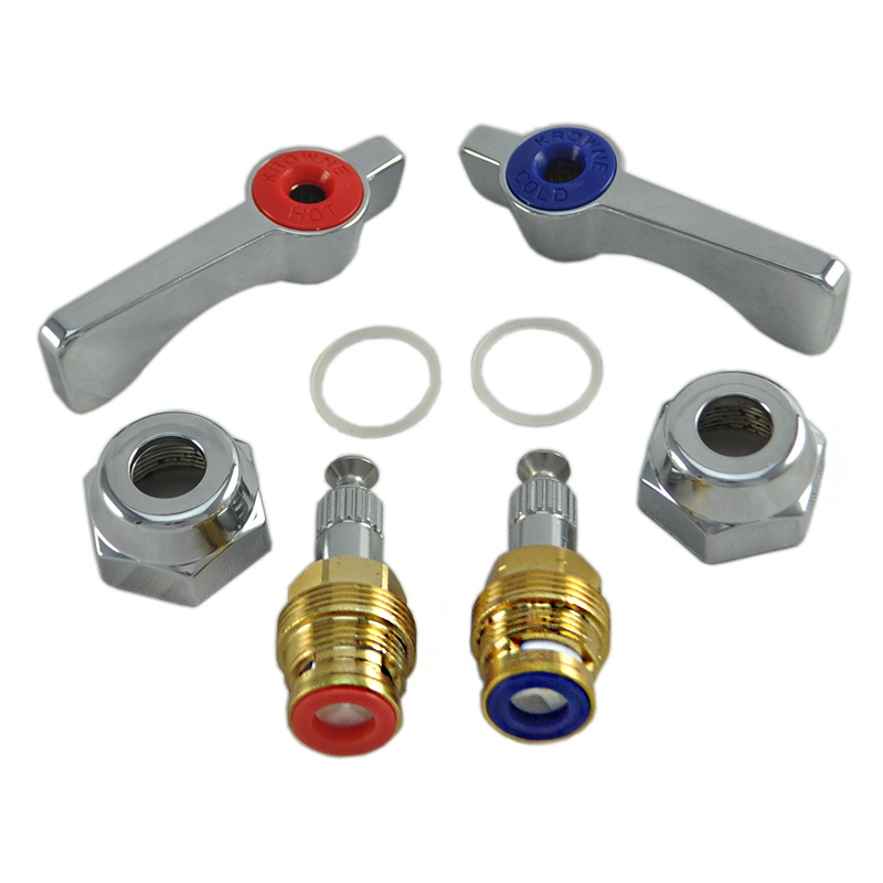 krowne 21 300l silver series 1 4 turn ceramic repair kit with silver series handles fits 10 4 11 4 and 13 8 series faucets