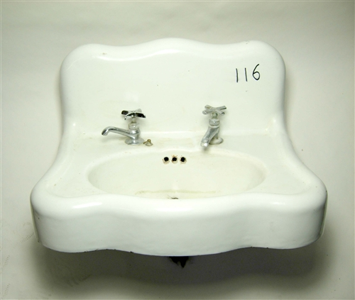 vintage cast iron wall hung sink 116