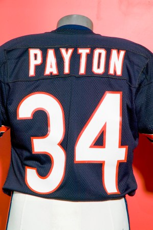 Walter Payton's football jersey, number 34