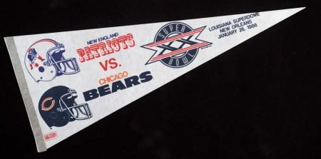 Super Bowl XX pennant