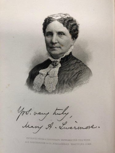 Signed drawing of Mary Livermore portrait
