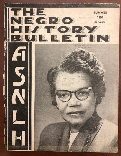 Gaines on the cover of the summer 1954 issue of The Negro History Bulletin