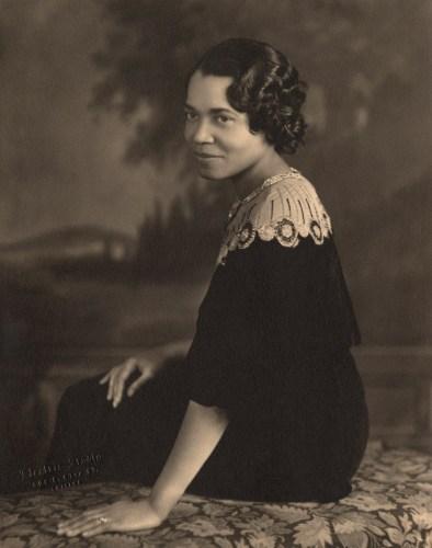Seated portrait of Irene McCoy Gaines