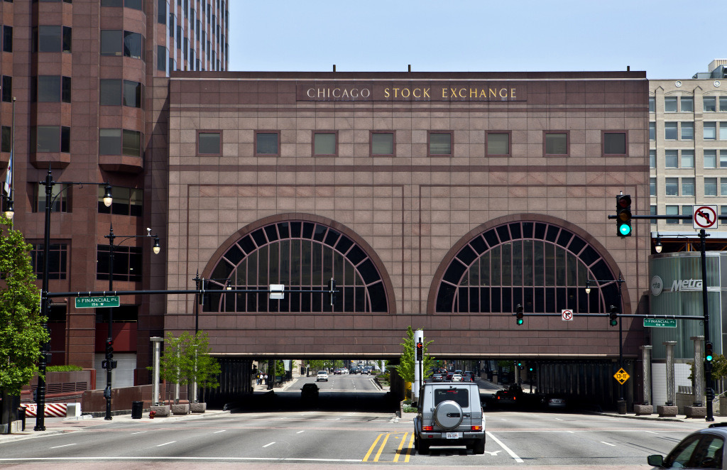 CHICAGO - MAY 19: One Financial Place, which houses the Chicago Stock Exchange, in Chicago, Illinois on MAY 19, 2013. (Photo By Raymond Boyd/Getty Images)