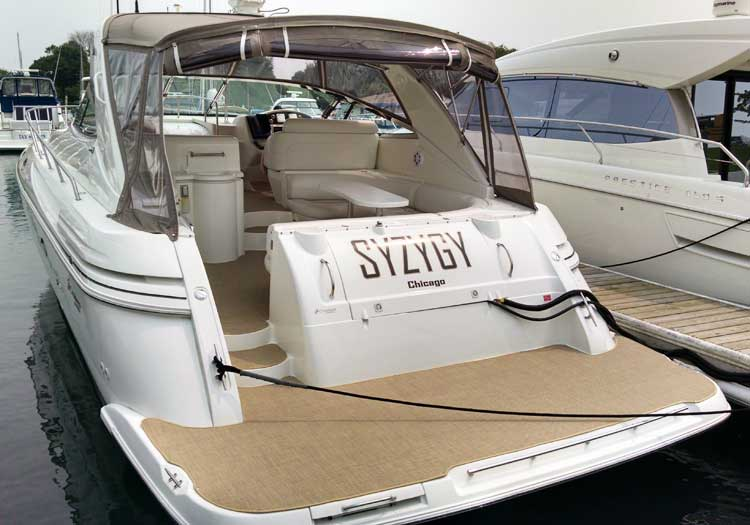Marine Carpet   Chicago Marine Canvas   Custom Boat Covers Infinity Carpet Seagrass  10 on a Cruiser Yacht Express