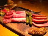 Charcuterie Plate - french ham, salami, smoked duck, country pate, pommery mustard, cornichons, baquette