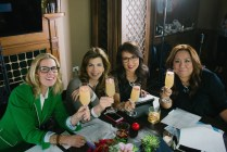 ChaChaChicagonista Toast with the Co-Hosts: Meredith Sinclair, Beth Rosen, Nancy Loo, and MJ Tam