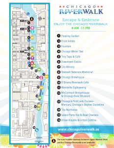 Riverwalk Chicago Map.Chicago Riverwalk Map Chicagonista